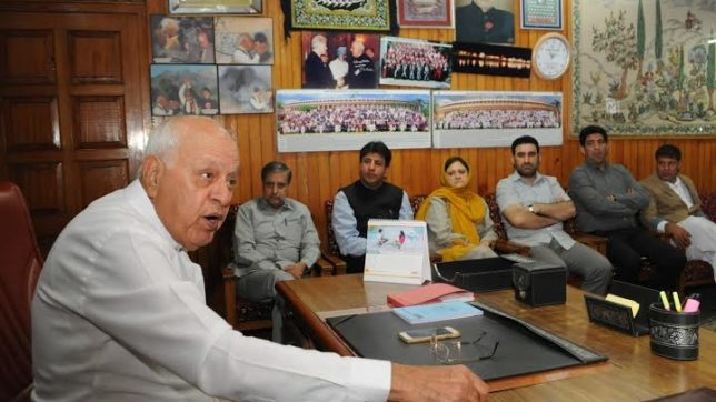 exclusive farooq abdullah says only talk is way to solve Kashmir issue and india can not win pakistan in war