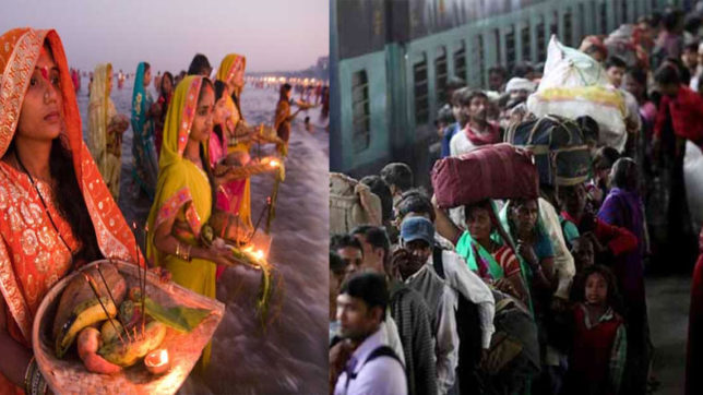 Chhath puja 2017: Bihar Purvanchal going persons have only bus service no Train on chhath, Flight fare crossed 6 thousand
