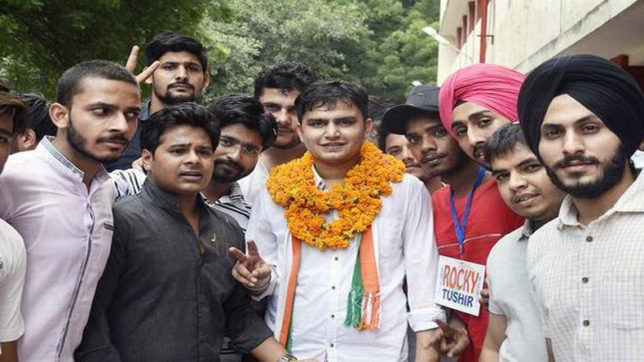 Rocky Tuseed of NSUI became DUSU president after cancellation of his Nomination earlier