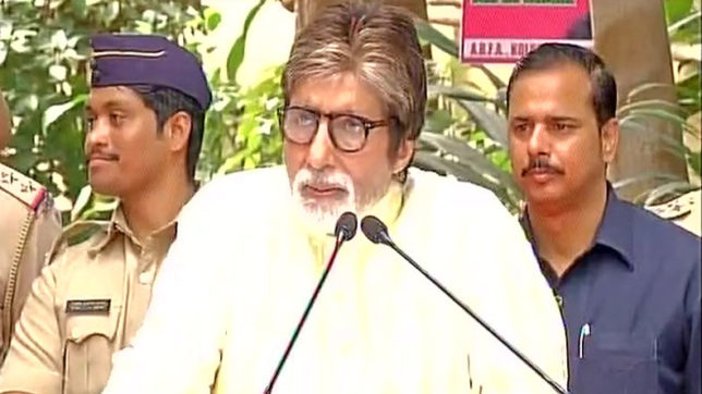 amitabh bachchan spoke to media and fans on his birthday