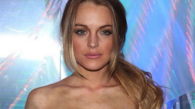 topless photo of american model lindsay lohan on instagram