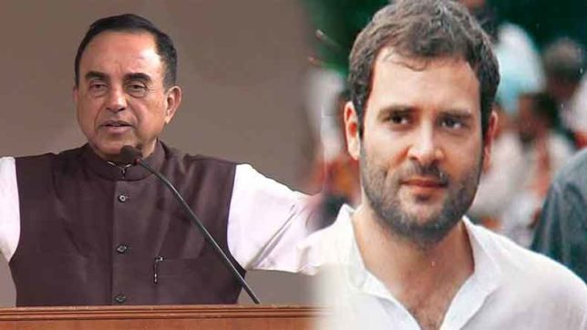 subramanian swamy says on Rahul gandhi twitter account hacking matter some insider did this