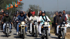 Haryana CM ML Khattar on Bike