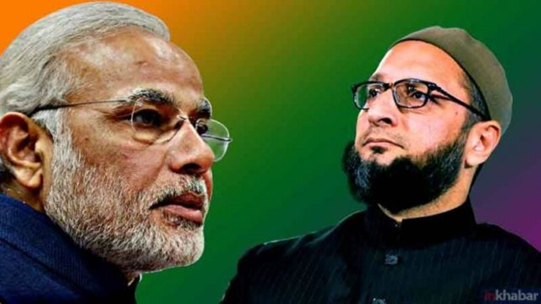 Asaduddin Owaisi and PM Narendra Modi