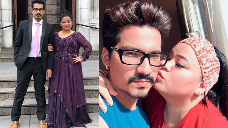 comedian bharti singh with husband haarsh limbaachiyan might jplan our baby on the show