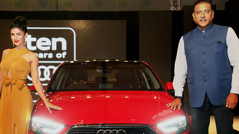 Ravi Shastri and Nimrat Kaur met first time in 2015 during Audi car New modal launch