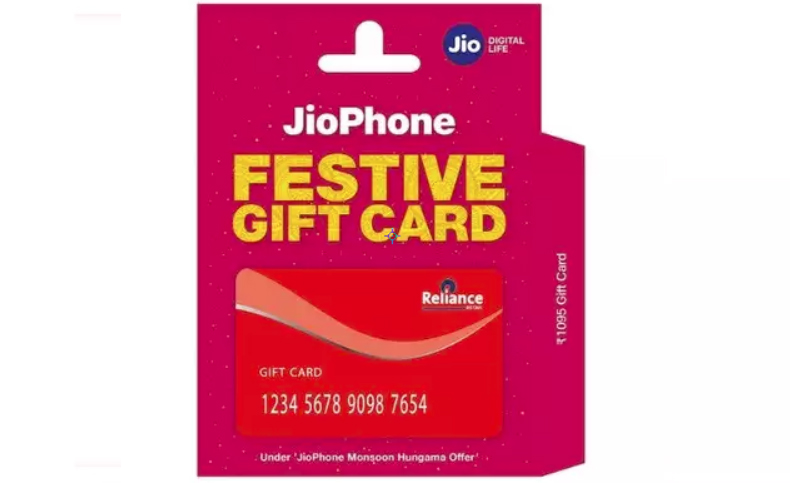 Reliance Jio Phone Gift Card Launch