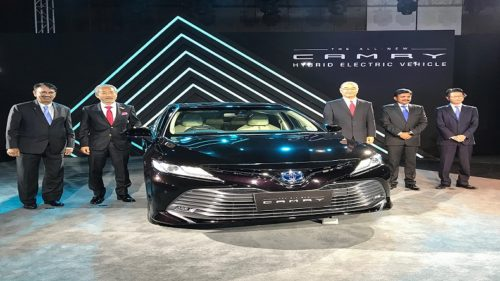 The launch of All-New Camry Hybrid Electric Vehicle in New Delhi