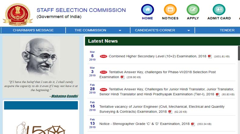 SSC CHSL 2019: Notification Released, SSC Exam To Begin