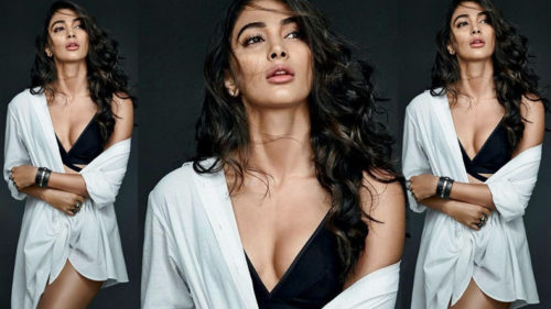 Pooja Hegde sizzles in black dress, watch video