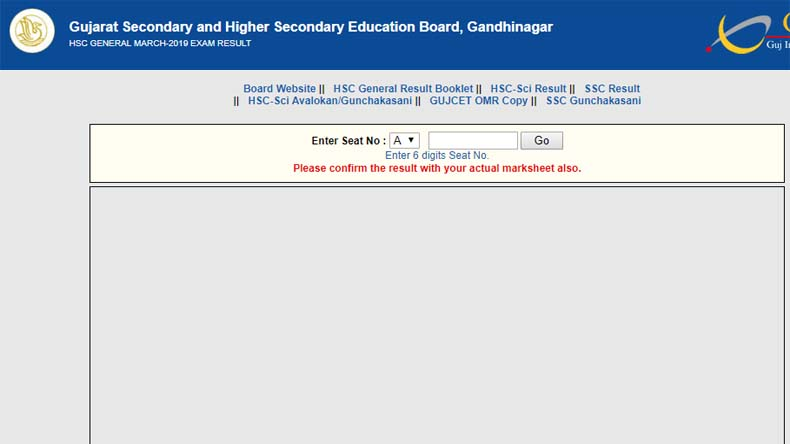 Gujarat GSEB 12th Result 2019 Declared