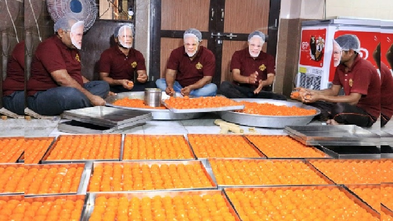 Jharkhand bjp workers order to 1001 kg ladoo for sure to big victory in lok sabha election 2019