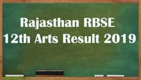 RBSE 12th Arts Result 2019