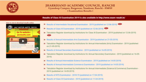 Jharkhand JAC 11th 12th Vocational Result 2019