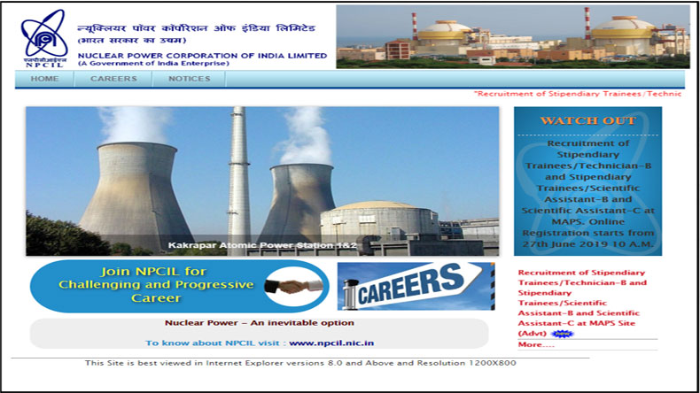 NPCIL Recruitment Alert 2019