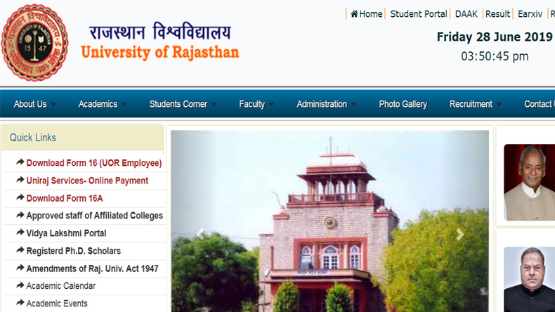 Rajasthan University B.Ed Result 2019 Declared
