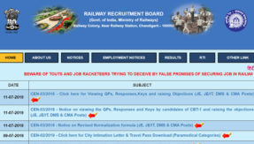 RRB Paramedical Admit Card 2019 Released